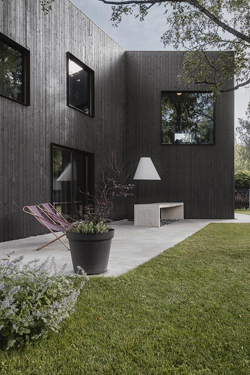 Architects' House by Open AD - prefab timber house in Riga