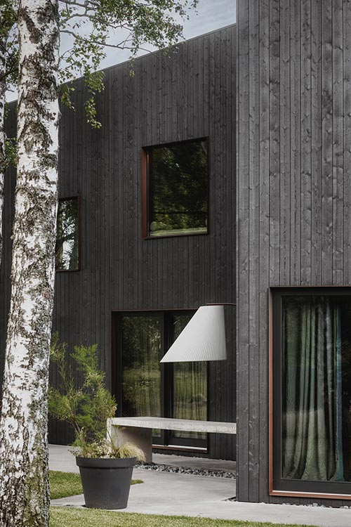Gray timber house in Latvia
