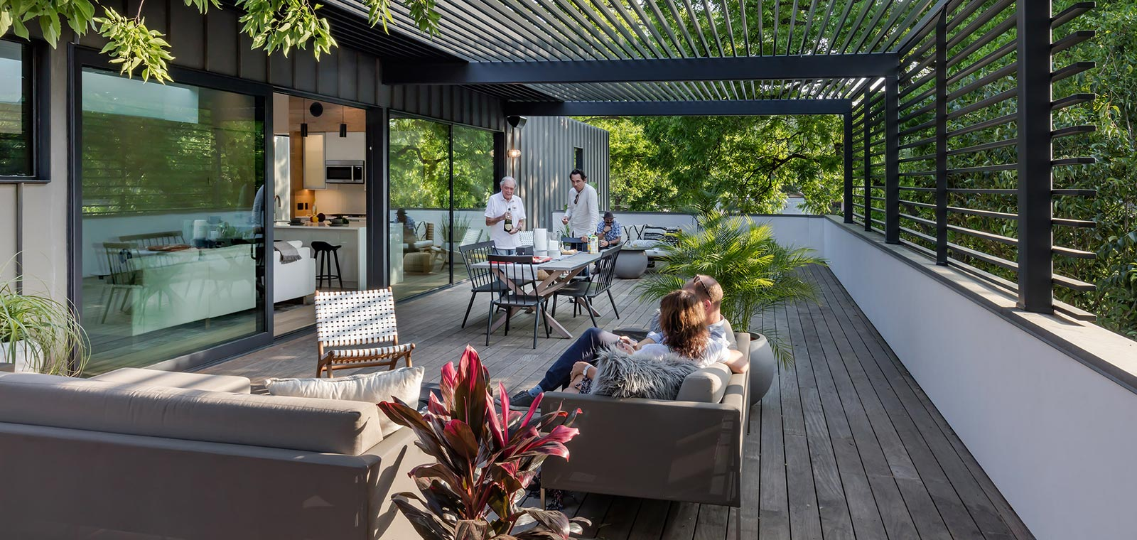 Unconventional residence in Austin, Texas designed by Matt Fajkus Architecture - outdoor area