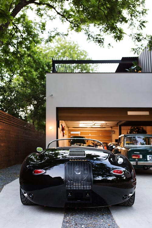 Autohaus was designed by Matt Fajkus Architecture to showcase the owners' car collection