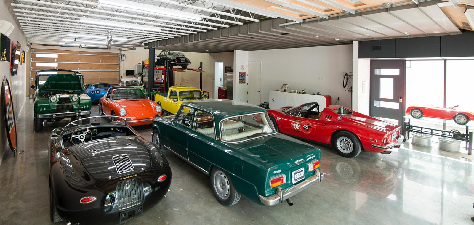 Austin home designed to showcase the owners' vintage car collection