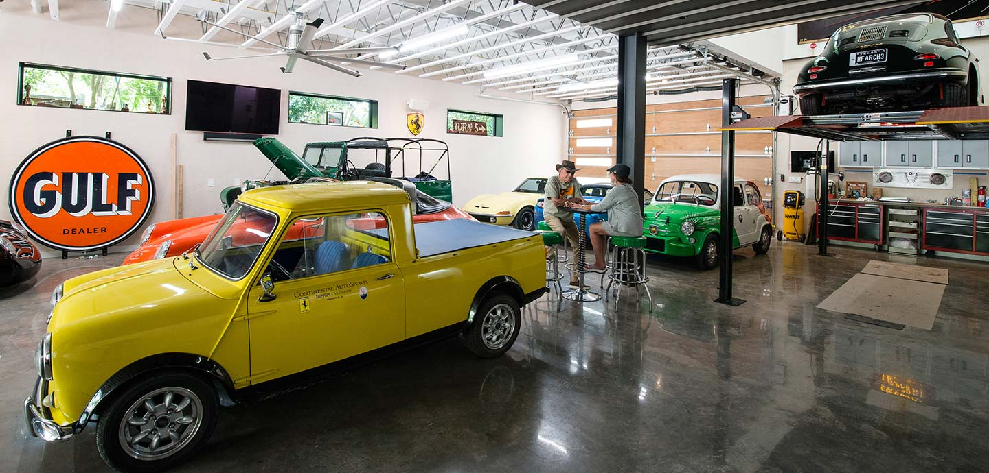 Autohaus - an unconventional Texas home designed to showcase the owners' car collection
