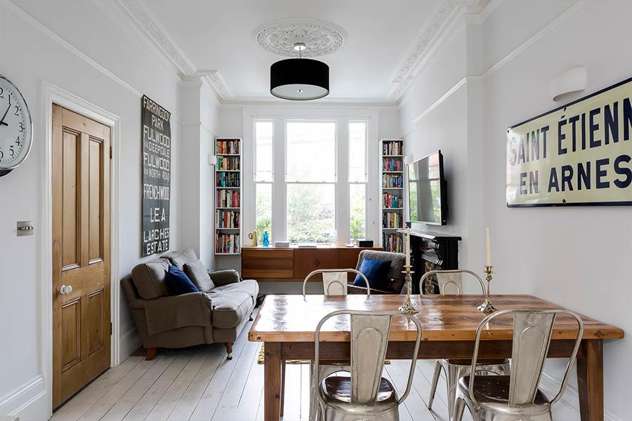 Barons Court basement extension and redesign by Rees Architects - living room design