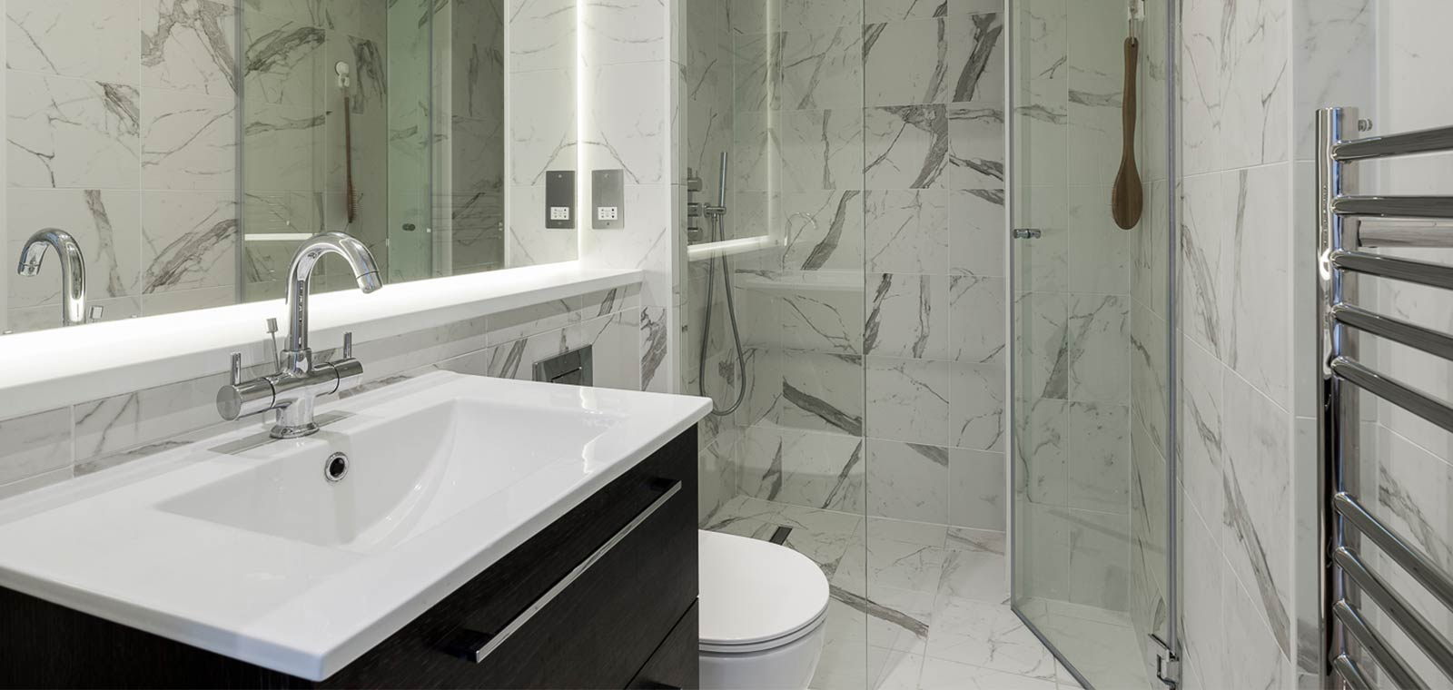 Barons Court basement extension and redesign by Rees Architects - modern bathroom design
