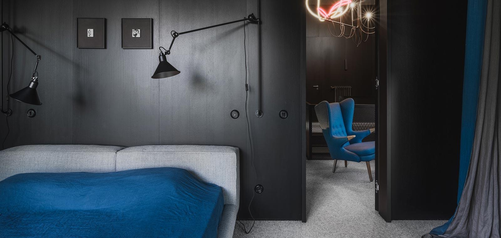 Prefab timber house in Riga, Latvia designed by Open AD - bedroom design idea