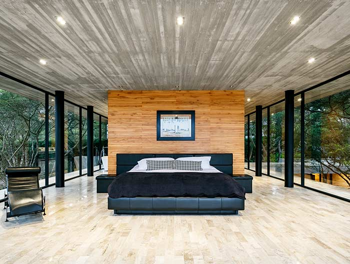 Bedroom design idea in a spectacular single-family home in perfect balance with the surrounding environment - Tacuri House by Gabriel Rivera Arquitectos