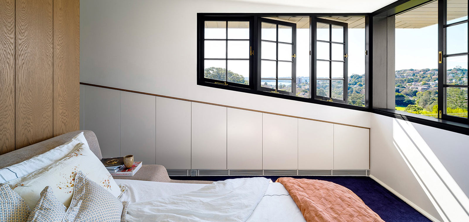 Bougainvillea Row House by Luigi Rosselli Architects - Amazing view from the bedroom of the house