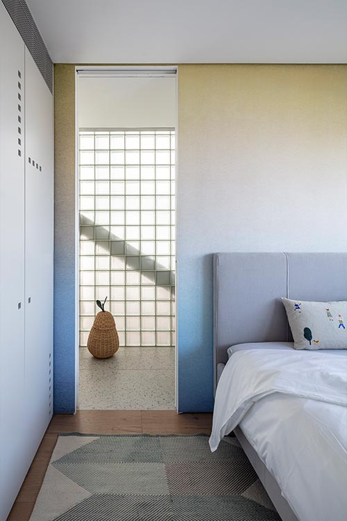 Small cozy bedroom in a duplex apartment located in Israel