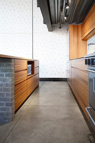Kitchen area detail in Capitol Hill loft in Seattle, Washington by SHED Architecture