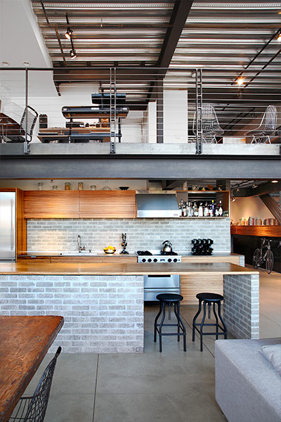 Main living space in Capitol Hill loft in Seattle, Washington by SHED Architecture
