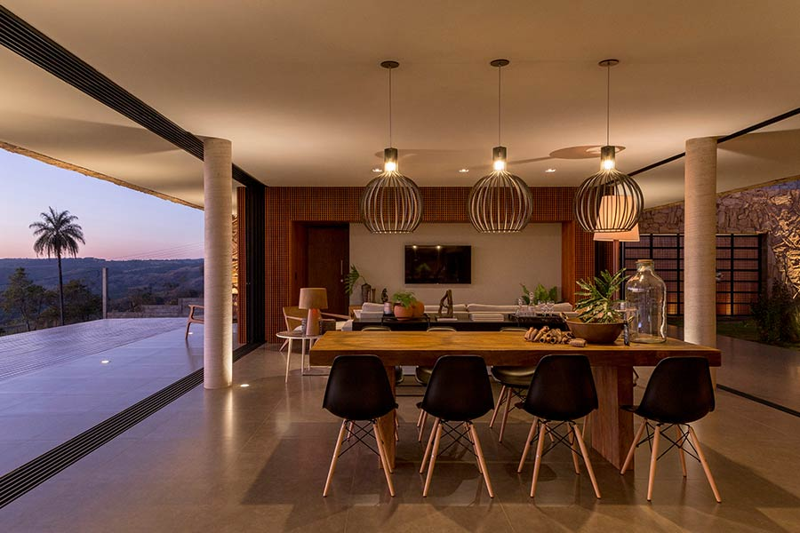 Casa Das Pedras by mf+arquitetos located in Brazil - dining area
