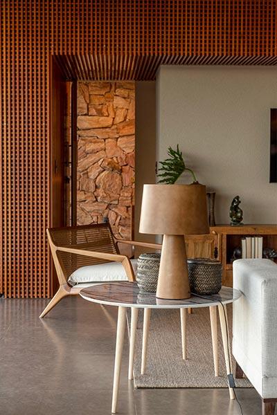 Casa Das Pedras by mf+arquitetos located in Brazil - living room decor