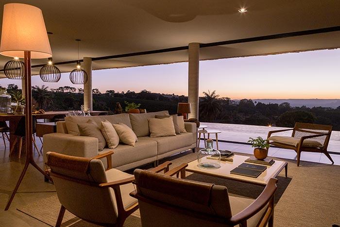 Casa Das Pedras by mf+arquitetos located in Brazil - living room design