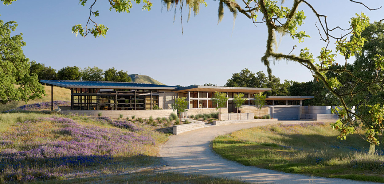 Caterpillar House by Feldman Architecture - sustainable Carmel, California contemporary ranch house