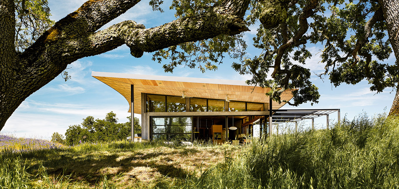 Caterpillar House by Feldman Architecture - sustainable contemporary ranch home which is LEED Platinum certified