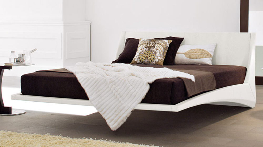 Dylan Leather Modern Bed By Cattelan Italia