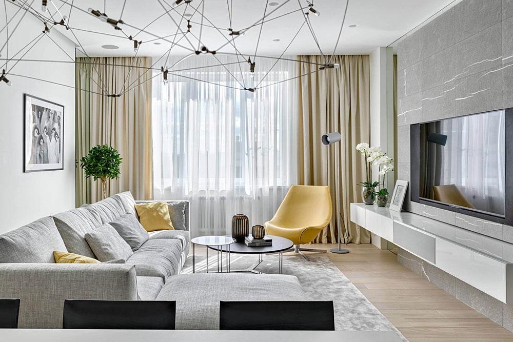 Colorful Living Room Decor by Alexandra Fedorova