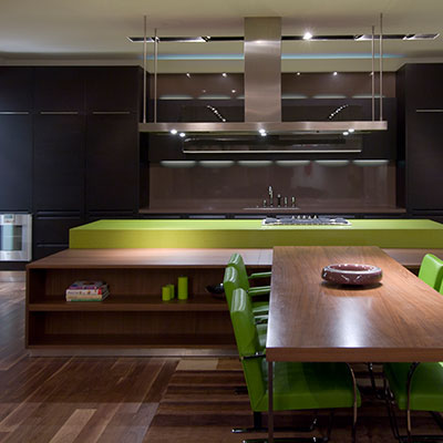 Contemporary kitchen Hollywood hills home