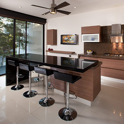 Contemporary kitchen in luxurious house in Mexico