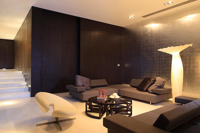 Contemporary living room by GLR arquitectos