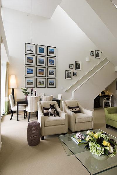 Maria Killam Contemporary Living Room Interior Design