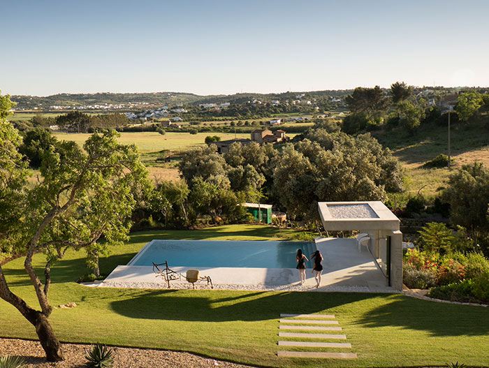 Contemporary pool with stunning views of Lagos Portugal