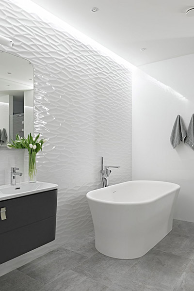 Contemporary white bathroom by Alexandra Fedorova