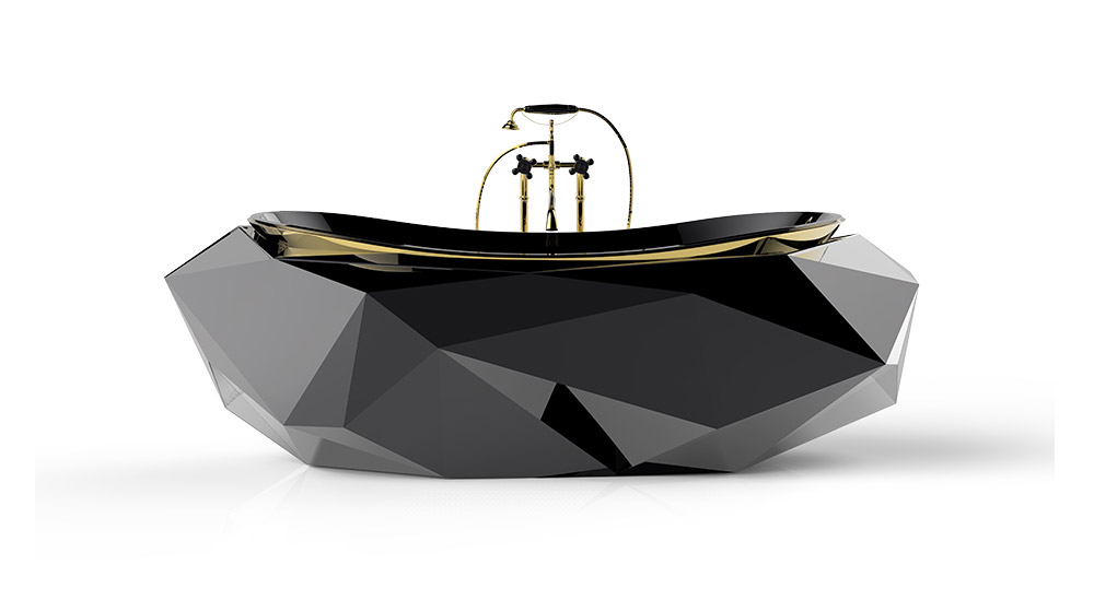 Diamond bathtub - unique bathtub by Maison Valentina
