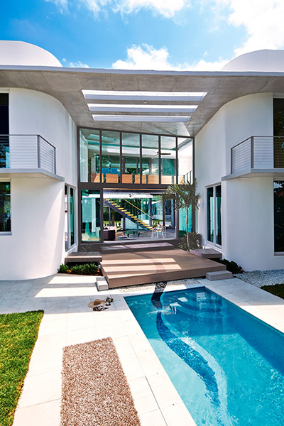 Stunning eco-friendly Di Lido Island home, Miami Beach, Florida