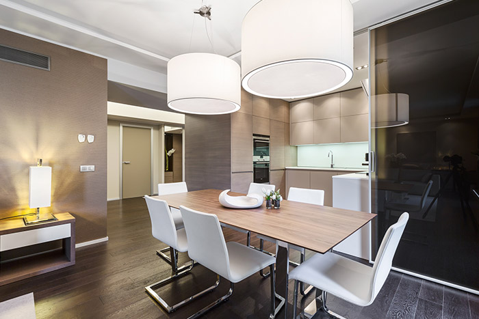 Gorgeous dining area in dazzling apartment near Monaco by NG-Studio
