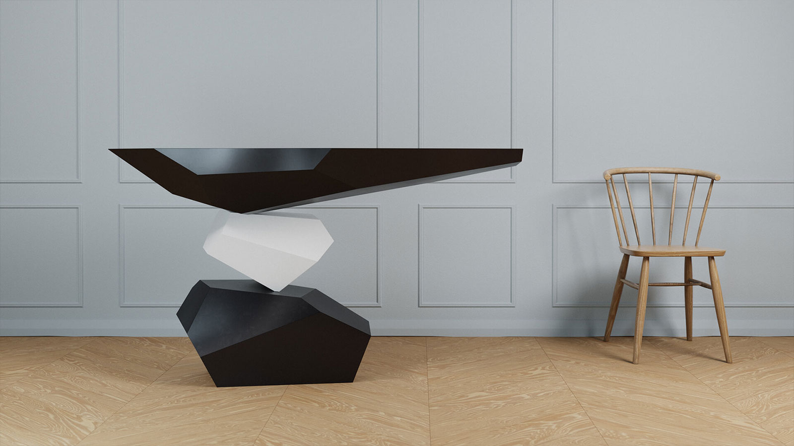 Duffy London's Serenity table appears to defy gravity