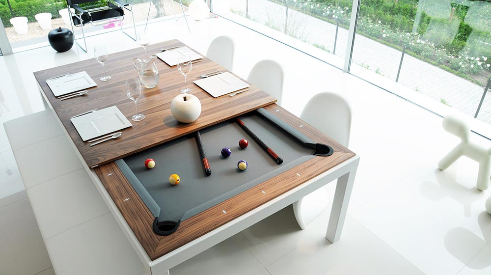 Fusion Pool Tables Dining Transformable Table and Pool Table