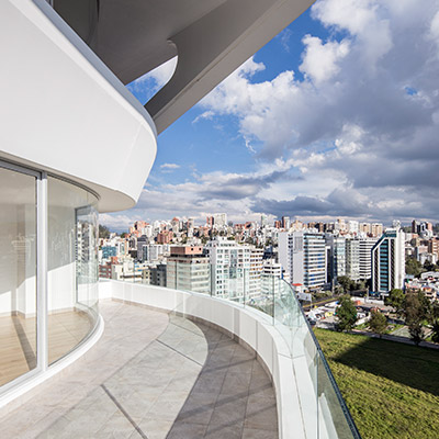 Amazing view of Quito from GAIA Building by Leppanen + Anker Architects