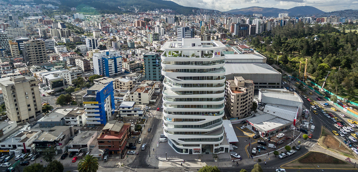 GAIA building by Leppanen + Anker Architects: Mixed-use contemporary landmark in Quito, Ecuador