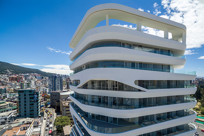 GAIA building by Leppanen + Anker Architects: Spectacular 14 storey tower in Quito, Ecuador