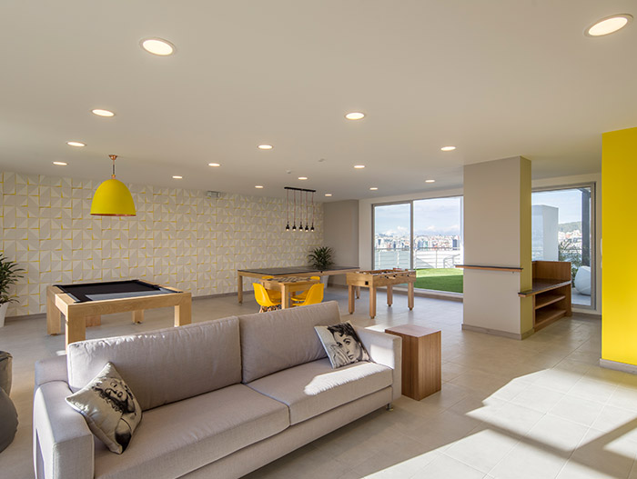 Luxurious apartment design idea inside GAIA - a contemporary landmark in Quito, Ecuador