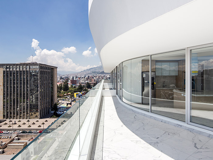 GAIA contemporary mixed-use building with amazing views of  Quito, Ecuador