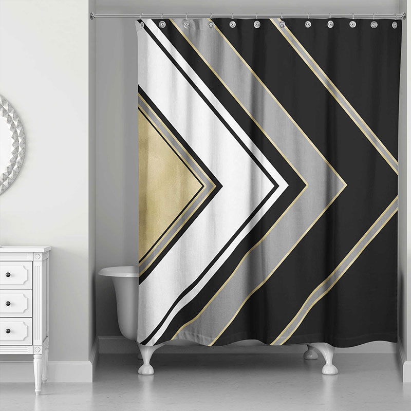 Geometric arrow shower curtain design for a chic, modern bathroom - Bed Bath & Beyond
