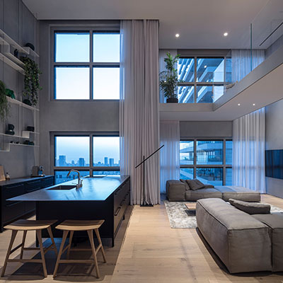 Peaceful, bright duplex apartment in Israel designed by Tal Goldsmith Fish