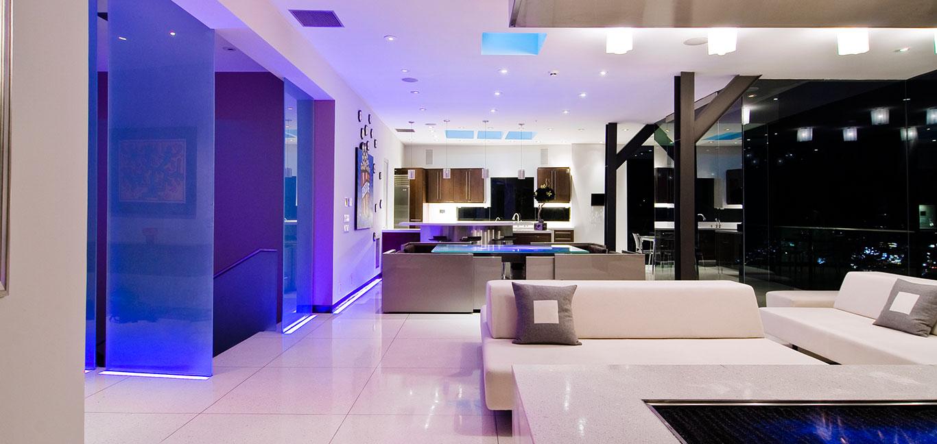 Harold Way contemporary interior design with stunning views