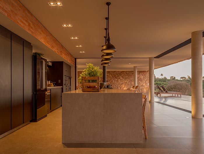 House of Stones by mf+arquitetos located in Brazil - kitchen design idea