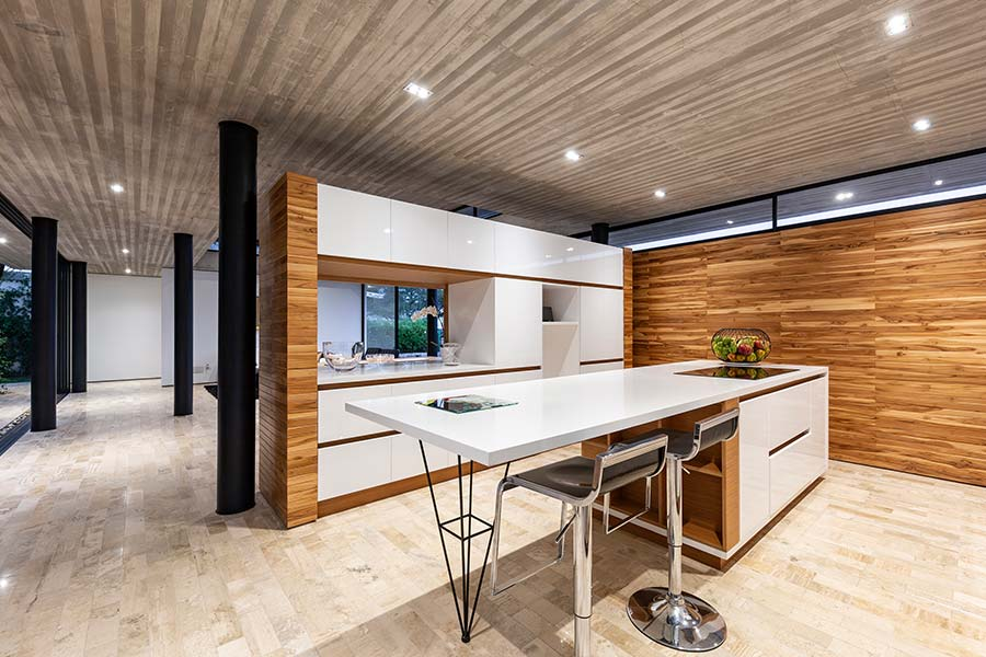 Interior of a single-family house by Gabriel Rivera Arquitectos