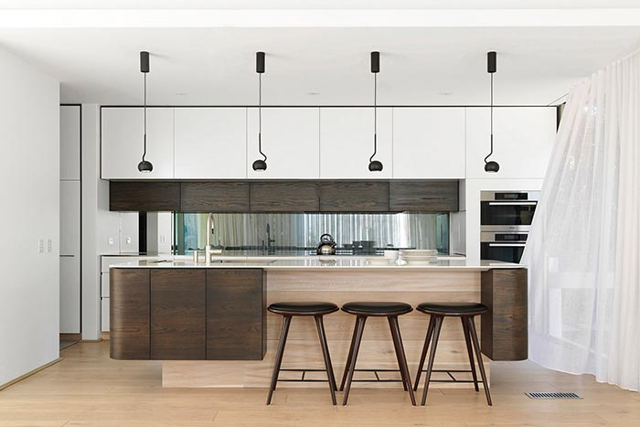 Two-storey addition in Australia - modern kitchen design