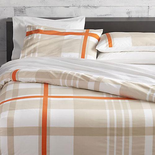 Lively Orange Bed Linens
