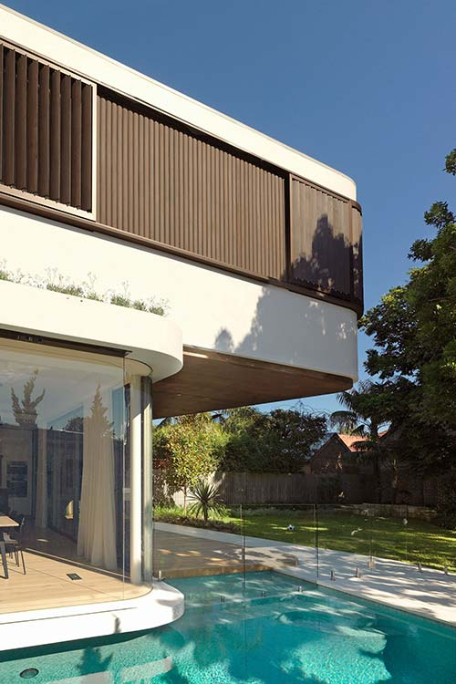The Pool House - modern addition by Luigi Rosselli Architects