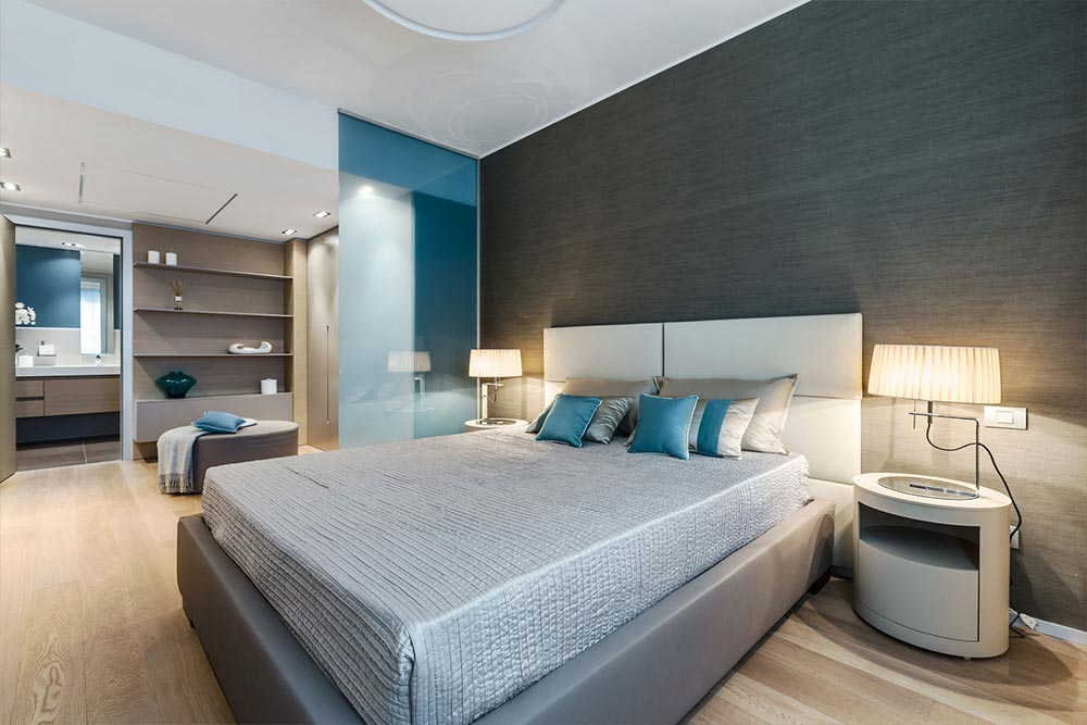 Create a sense of luxury in your bedroom with layered accent pillows