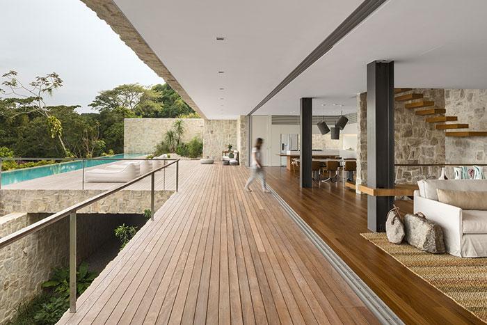 Luxurious modern interior design in Rio de Janeiro, Brazil house