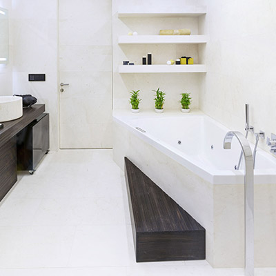 Luxurious Triumph Palace apartment with modern bathroom by Alexandra Fedorova