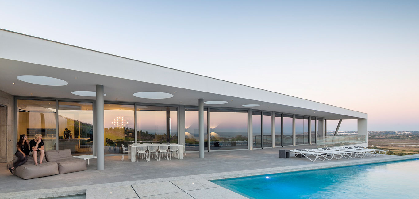 Modern Zauia House by Mario Martins Atelier offers amazing views and boasts impressive pool