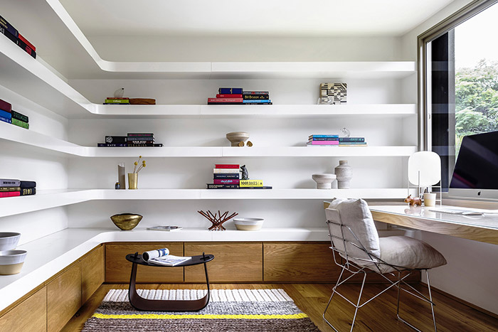 Stunning home office inside contemporary home in Australia